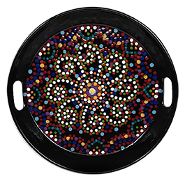 Maple Grove Mosaic Mandala Tray