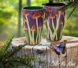 Maple Grove Mushroom Mugs