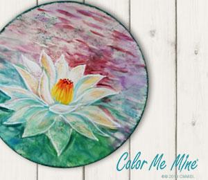 Maple Grove Lotus Flower Plate