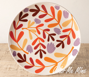 Maple Grove Fall Floral Charger